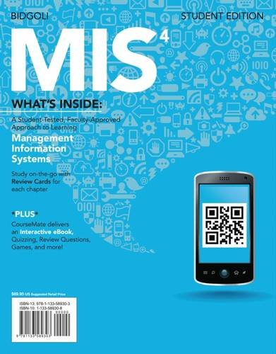 MIS4 (with CourseMate Printed Access Card) (New,: Hossein Bidgoli