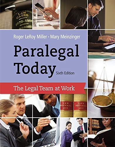 9781133591078: Paralegal Today: The Legal Team at Work