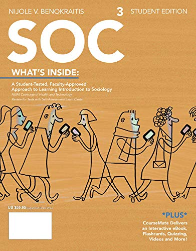 SOC 3 (with CourseMate Printed Access Card): Benokraitis, Nijole V.