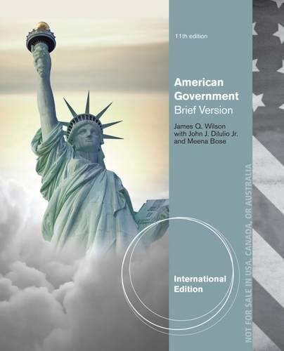 9781133598961: American Government: Brief Version, International Edition