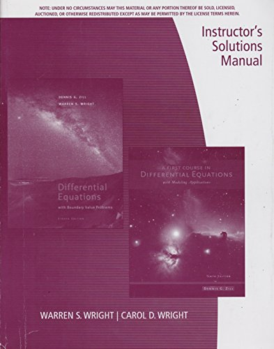 9781133602293: Ism A First Course In Differential Equations