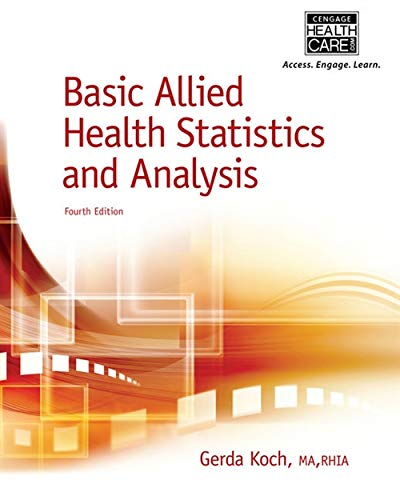 BASIC ALLIED HEALTH STATISTICS+ANALYSIS: KOCH
