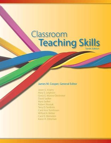 9781133602767: Classroom Teaching Skills