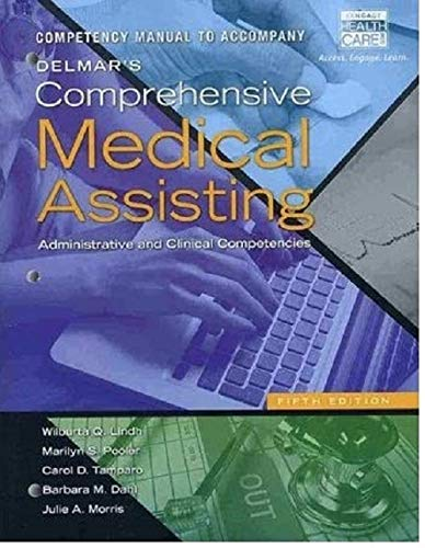 9781133603221: Competency Manual for Lindh/Pooler/Tamparo/Dahl/Morris' Delmar's Comprehensive Medical Assisting: Administrative and Clinical Competencies, 5th