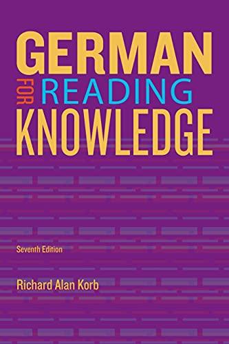 German for Reading Knowledge (World Languages): Richard Alan Korb