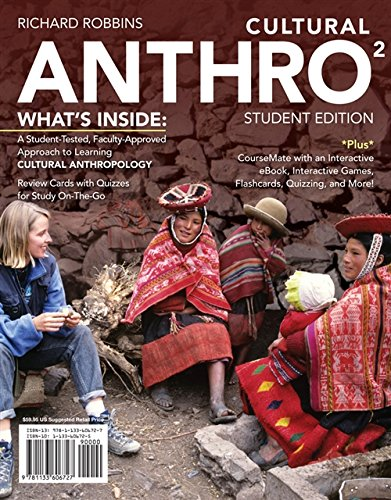 Cultural ANTHRO 2 (with CourseMate Printed Access: Dowty, Rachel, Robbins,