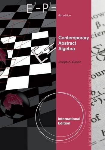 9781133606758: Contemporary Abstract Algebra, International Edition