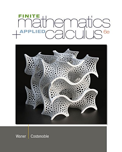 9781133607700: Finite Math and Applied Calculus
