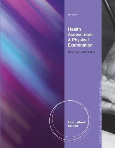 9781133610977: Health Assessment and Physical Examination. by Mary Ellen Estes