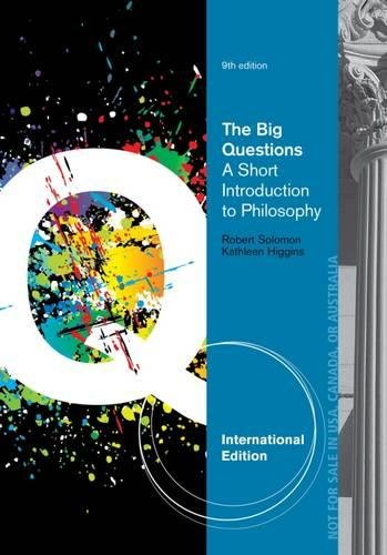 9781133611349: The Big Questions: A Short Introduction to Philosophy, International Edition