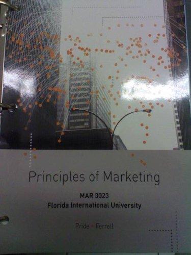 9781133620617: Principles of Marketing (MAR 3023 (FIU))