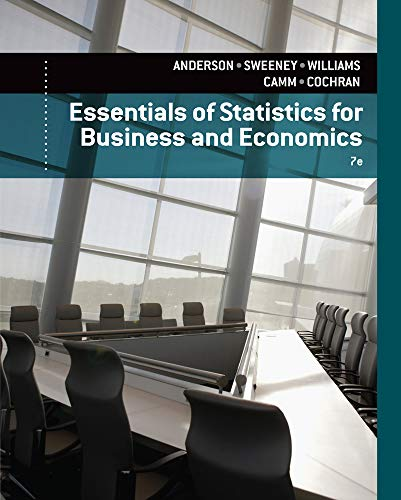 Essentials of Statistics for Business and Economics 7ed, (US edition): Anderson.