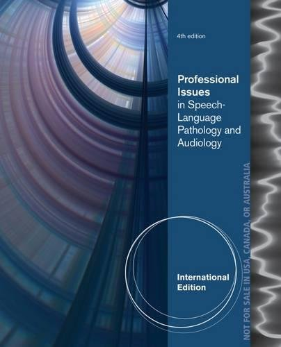 9781133687290: Professional Issues in Speech-Language Pathology and Audiology