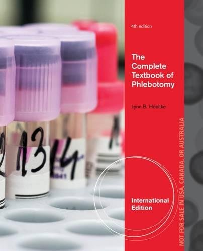 9781133687481: The Complete Textbook of Phlebotomy. Lynn Hoeltke (International Edition)