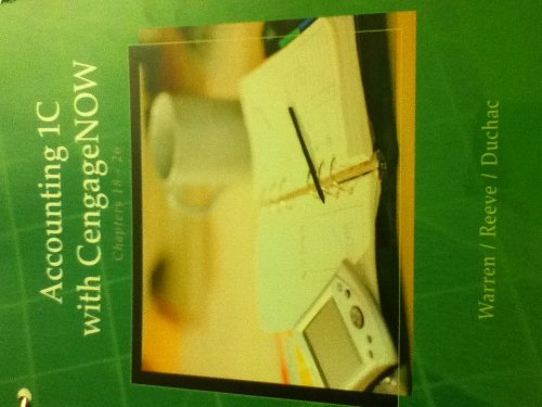 9781133687993: Accounting 1C with CengageNOW chapters 18-26