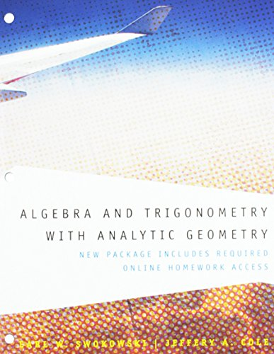 9781133730958: Algebra and Trigonometry with Analytic Geometry, Class Edition, 12th Edition
