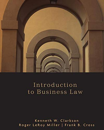 Introduction to Business Law (1133807976) by [???]