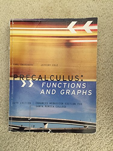 9781133835509: Precalculus: Functions and Graphs 12th Edition