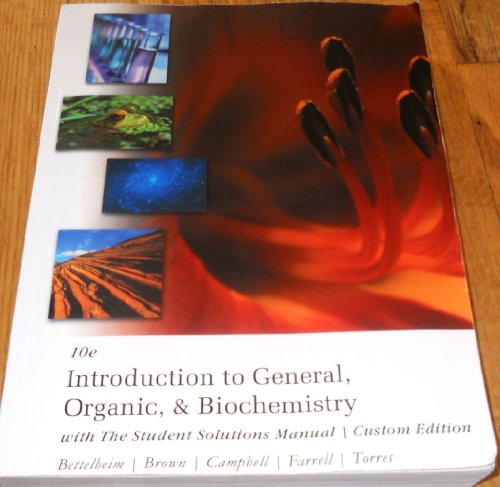 9781133838593: Introduction to General,organic, & Biochemistry with the Student Solutions Manual