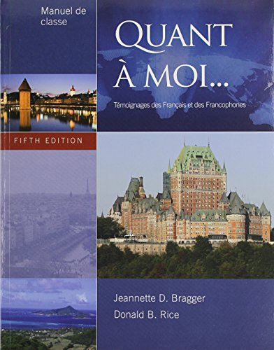 9781133857181: Bundle: Quant a moi, 5th + Workbook with Lab Manual + Audio CD (Stand Alone)