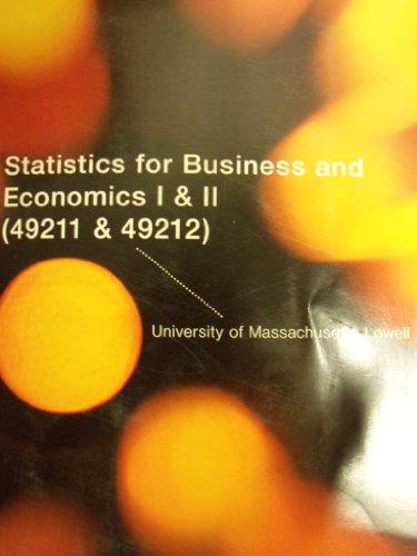 9781133889250: Statistics for Business and Economics [11 E] (University of Massachusetts Lowell | 49211 & 49212)