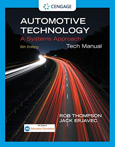 9781133933731: Tech Manual for Erjavec S Automotive Technology: A Systems Approach