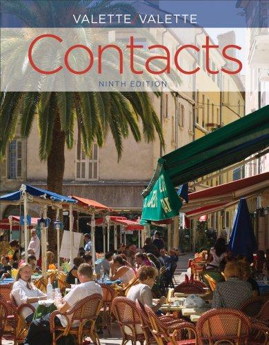 Contacts: Langue et culture françaises: Valette, Jean-Paul; Valette,