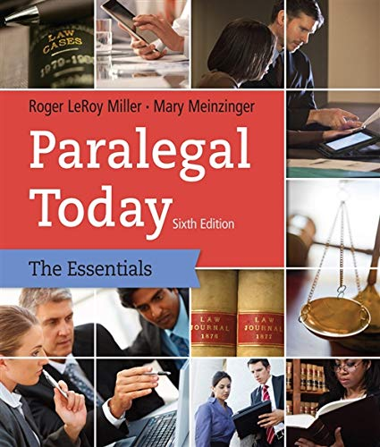 Paralegal Today: The Essentials: Meinzinger, Mary, Miller,