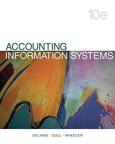 Accounting Information Systems: Gelinas, Ulric J., Dull, Richard B., Wheeler, Patrick