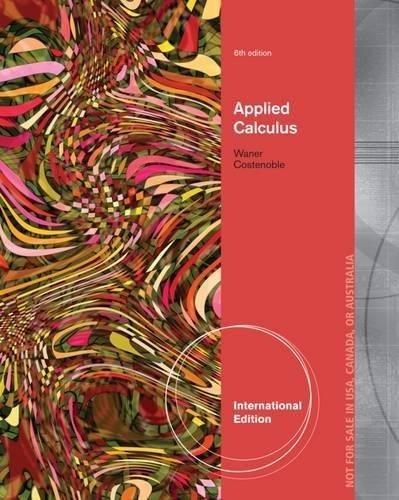 9781133936695: Applied Calculus, International Edition