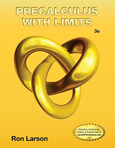 Precalculus with Limits: Larson, Ron