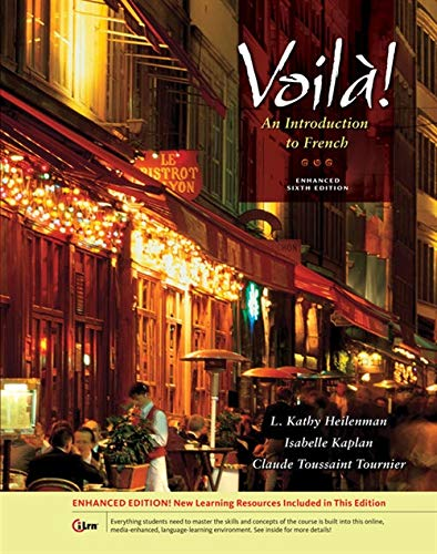 Voila!, Enhanced (World Languages) (1133950108) by L. Kathy Heilenman; Isabelle Kaplan; Claude Toussaint Tournier