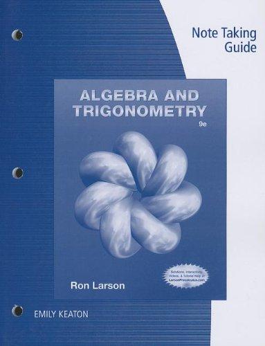 9781133951179: Note Taking Guide for Larson's Algebra & Trigonometry, 9th