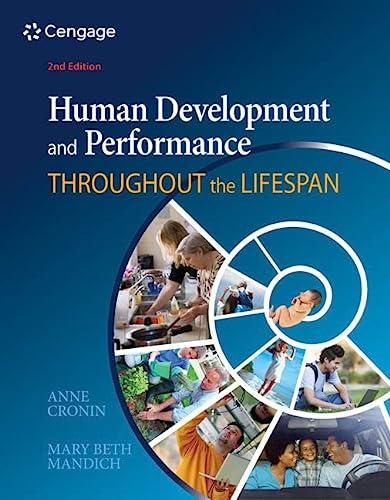 Human Development and Performance Throughout the Lifespan: Cronin, Anne; Mandich,