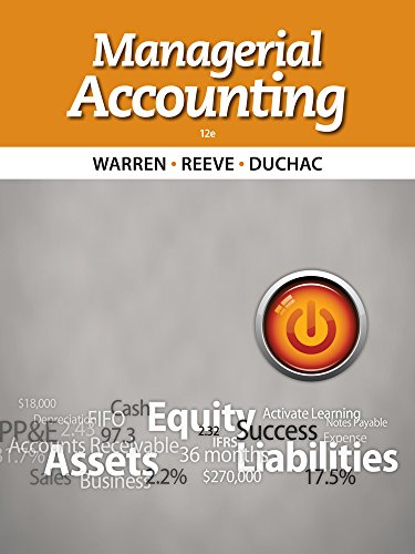 9781133952404: Managerial Accounting