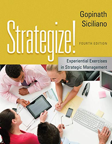 9781133953371: Strategize!: Experiential Exercises in Strategic Management