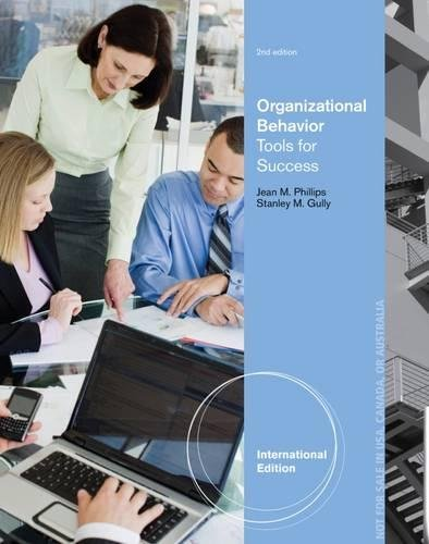 9781133953593: Organizational Behavior: Tools for Success (International Edition)