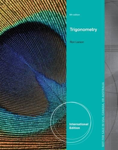 9781133954248: Trigonometry, International Edition
