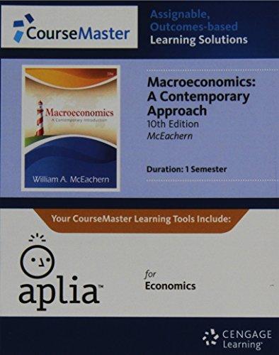 9781133955221: Aplia™, 1 term Printed Access Card for McEachern's Macroeconomics: A Contemporary Approach, 10th