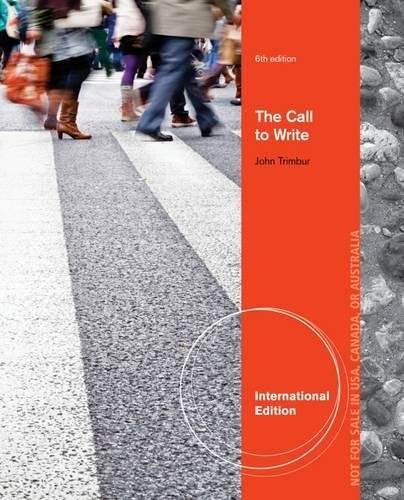 9781133955429: The Call to Write, International Edition