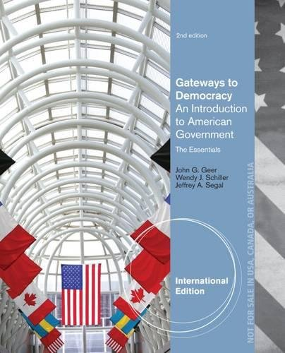 9781133955535: Gateways to Democracy Essentials: An Introduction to American Government, The Essentials, International Edition (with Aplia 1-Semester Printed Access Card)
