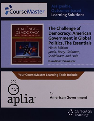 9781133956143: Aplia™, 1 term Printed Access Card for Janda's The Challenge of Democracy Essentials: American Government in Global Politics, 9th