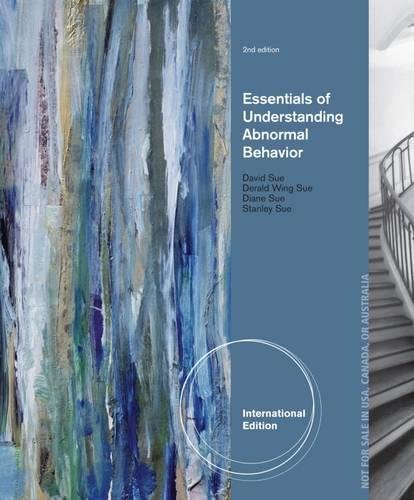 9781133956327: Essentials of Understanding Abnormal Behavior, International Edition