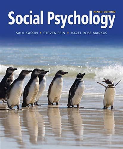 9781133957751: Social Psychology