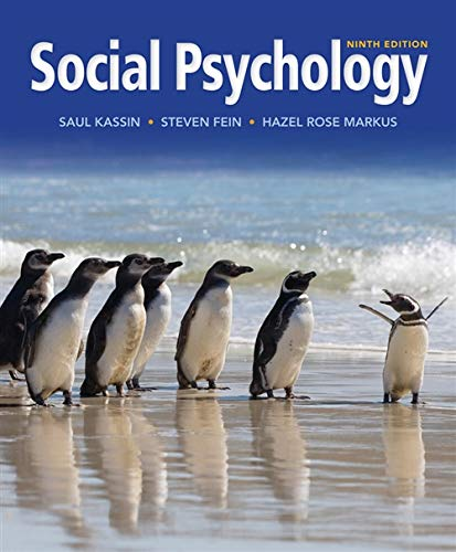 Social Psychology 9e ninth new teacher copy: Kassin, Saul M.;
