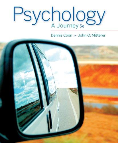Cengage Advantage Books: Psychology: A Journey (1133957803) by Dennis Coon; John O. Mitterer