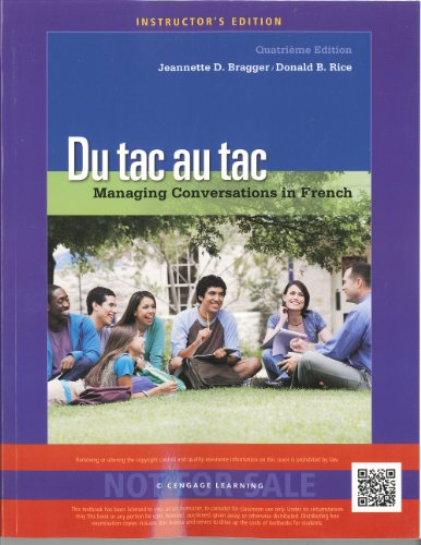 9781133958833: Du tac au tac: Managing Conversations in French (AIE)