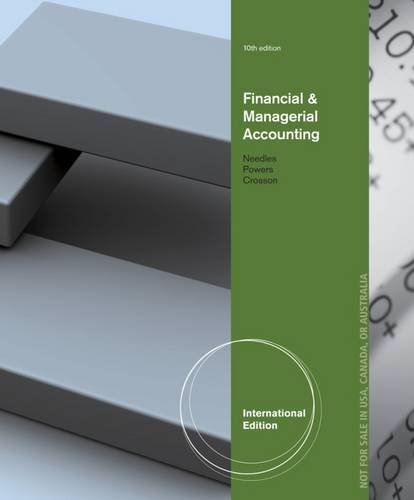 9781133959007: Financial and Managerial Accounting, International Edition