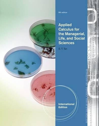 9781133960195: Applied Calculus for the Managerial, Life, and Social Sciences