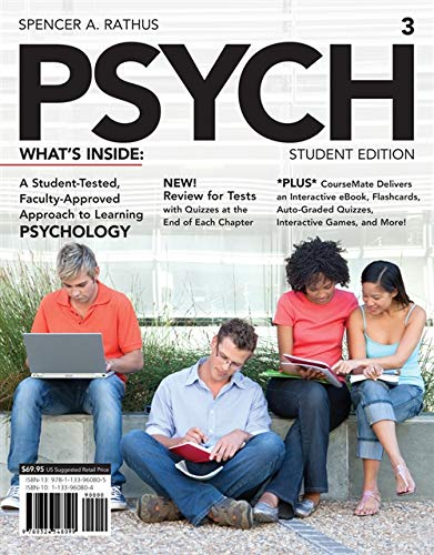 9781133960805: PSYCH 3 (with CourseMate Printed Access Card) (New, Engaging Titles from 4LTR Press)